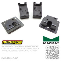 AEROFLOW ENGINE CONVERSION PLATES & MACKAY ENGINE MOUNT KIT [CHEV V8 307-327-350-400 SMALL BLOCK MOTOR]