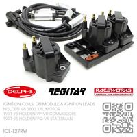 DELPHI IGNITION COILS, REGITAR DFI MODULE & RACEWORKS LEADS [HOLDEN V6 3800 3.8L MOTOR]