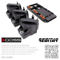 GOSS IGNITION COILS & REGITAR DFI MODULE [HOLDEN V6 SUPERCHARGED 3.8L MOTOR]