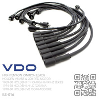VDO 8.0MM HIGH TENSION IGNITION LEAD SET [HOLDEN V8 253 4.2L & 308 5.0L RED MOTOR]