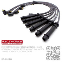 RACEWORKS PERFORMANCE 8.5MM HIGH TENSION IGNITION LEAD SET [HOLDEN 6-CYL RB30E & RB30ET TURBO 3.0L MOTOR]
