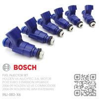 BOSCH FUEL INJECTOR SET [HOLDEN V6 ALLOYTEC 3.6L MOTOR]