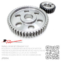 JP PERFORMANCE STRAIGHT CUT STEEL TIMING GEAR SET [HOLDEN 6-CYL RED/BLUE/BLACK MOTOR]