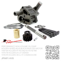 JP PERFORMANCE HIGH VOLUME OIL PUMP & DRIVE SHAFT [HOLDEN V8 RED/BLUE/BLACK/INJECTED MOTOR]