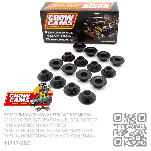 "CROW CAMS PERFORMANCE CHROMOLY VALVE SPRING RETAINERS +0.100"" [CHEV V8 307-327-350 SMALL BLOCK MOTOR]"