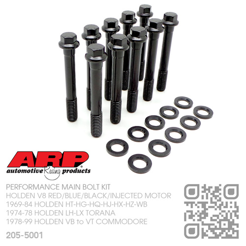 "ARP PERFORMANCE 7/16"" UNC MAIN BOLT KIT [HOLDEN V8 RED/BLUE/BLACK/INJECTED MOTOR]"