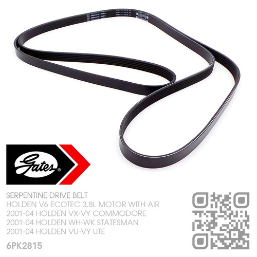GATES MICRO-V SERPENTINE DRIVE BELT [HOLDEN V6 ECOTEC 3.8L MOTOR WITH AIR]