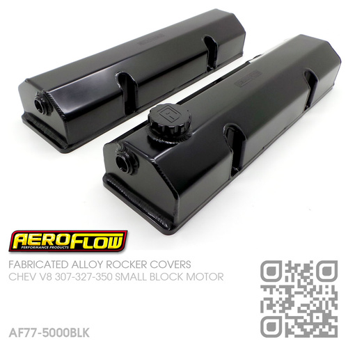 AEROFLOW FABRICATED ALLOY ROCKER COVERS [CHEV V8 307-327-350-400 SMALL BLOCK MOTOR]