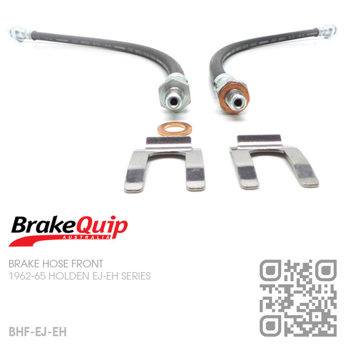 BRAKEQUIP RUBBER HYDRAULIC BRAKE HOSE FRONT KIT [EJ-EH]