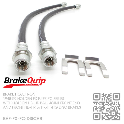 BRAKEQUIP RUBBER HYDRAULIC BRAKE HOSE FRONT KIT [FX-FC][HD-HG CALIPERS]