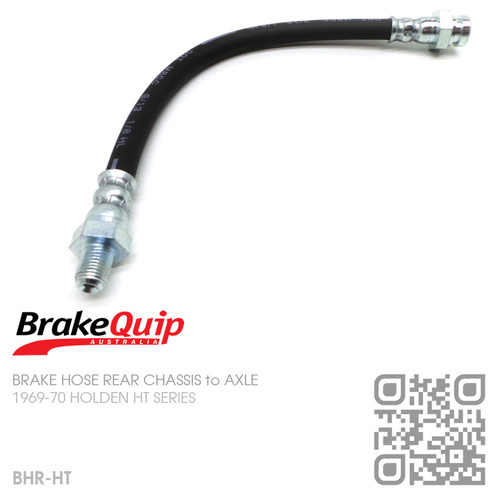 BRAKEQUIP RUBBER HYDRAULIC BRAKE HOSE REAR [HT][CHASSIS to AXLE]