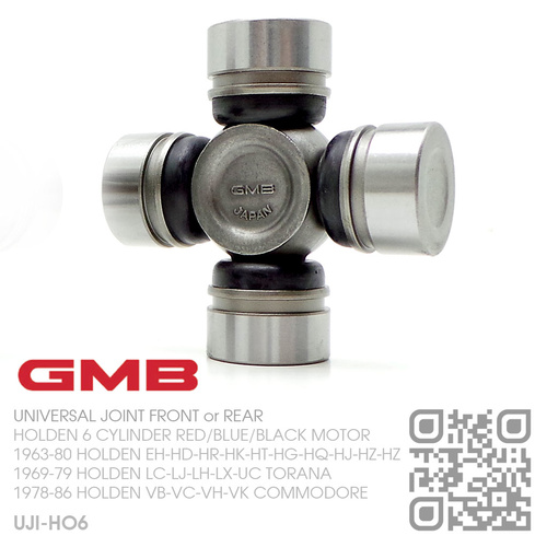 GMB UNIVERSAL JOINT FRONT or REAR [HOLDEN 6-CYL RED/BLUE/BLACK MOTOR]