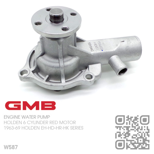 GMB WATER PUMP [HOLDEN 6-CYL 149-161-179-186 RED MOTOR]